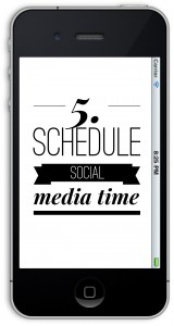 schedule social media time